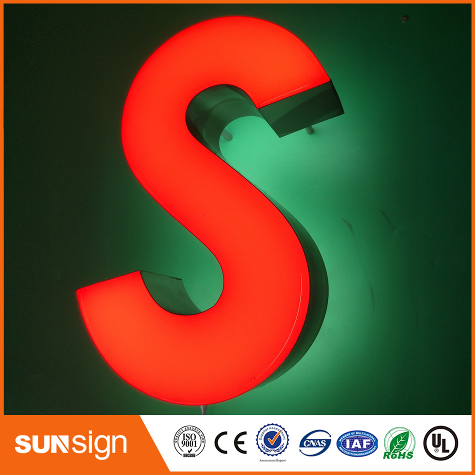 Customized High Bright Epoxy Resin Outdoor Outlet Material Led Channel Letter Sign
