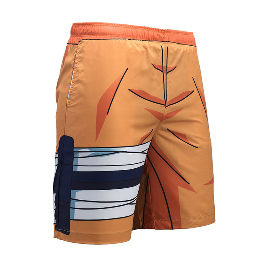 3D Men's Board Shorts Anime Print Dragon Ball GOKU Harajuku Beach Shorts Summer Running Sports Surffing Swimwear Plus Size S-3XL
