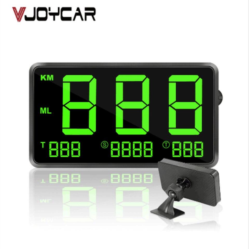 "GPS Speedometer 4.5"" Speed Odometer Mileage Odometer Hud Display Digital Car Speed Alarm MPH KMH Altitude Display Projector C60s"