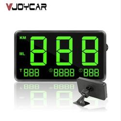 """Prędkościomierz gps 4.5 """"prędkość przebieg przebieg przebieg wyświetlacz cyfrowy Hud alarm prędkości samochodu MPH KMH wyświetlacz wysokości projektor C60s w Wyświetlacz projekcyjny od Samochody i motocykle na"""