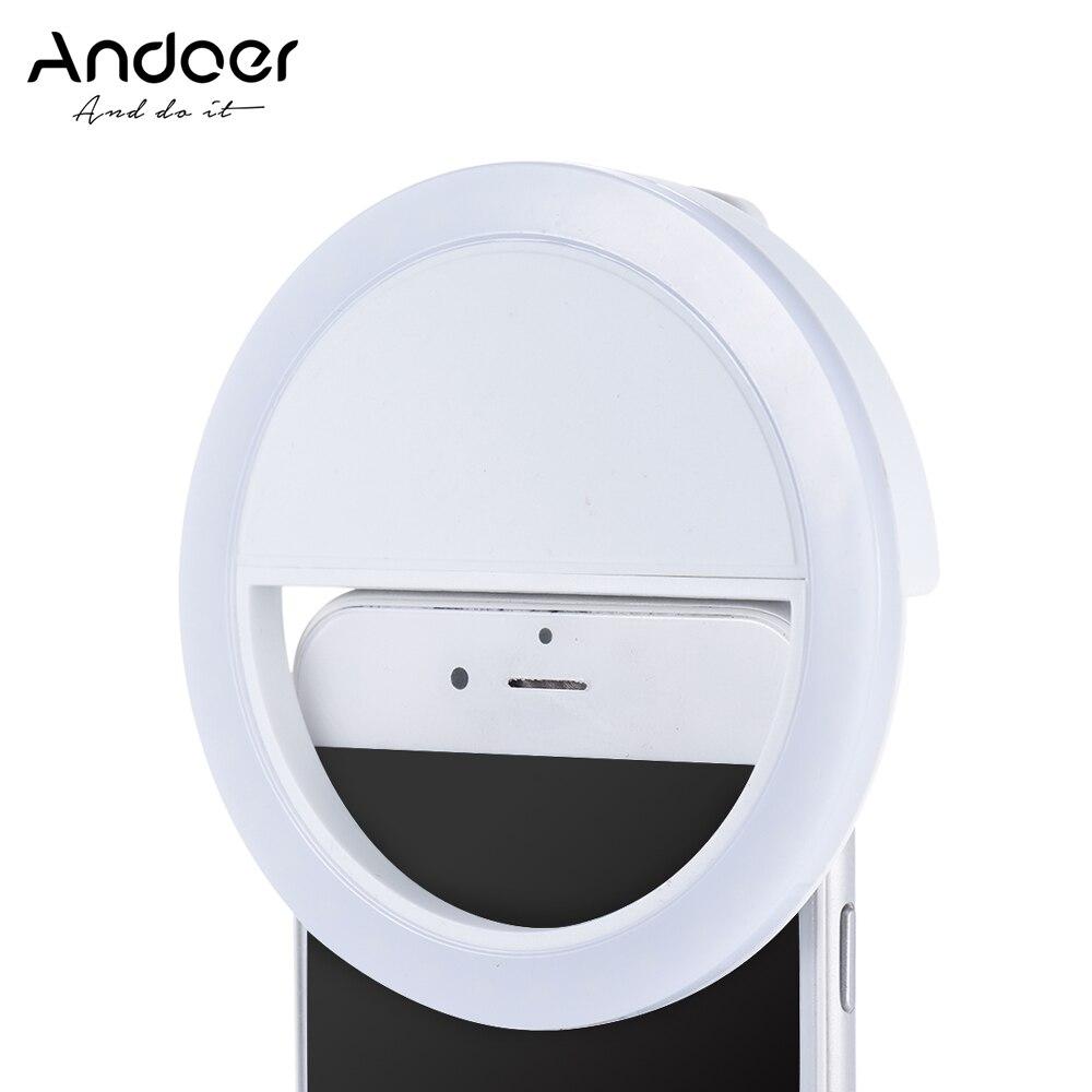 Aliexpress Com Buy Andoer Mini 36 Led Selfie Ring Light