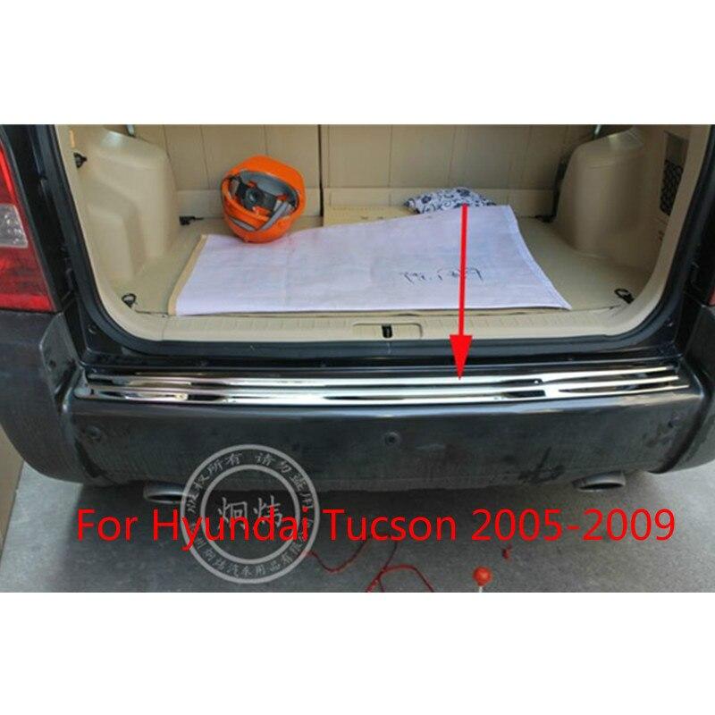 Haute qualité Protecteur de pare-chocs Arrière en acier inoxydable Rebord Pour Hyundai Tucson 2005 2006 2007 2008 2009 Voiture-style bâches de voiture