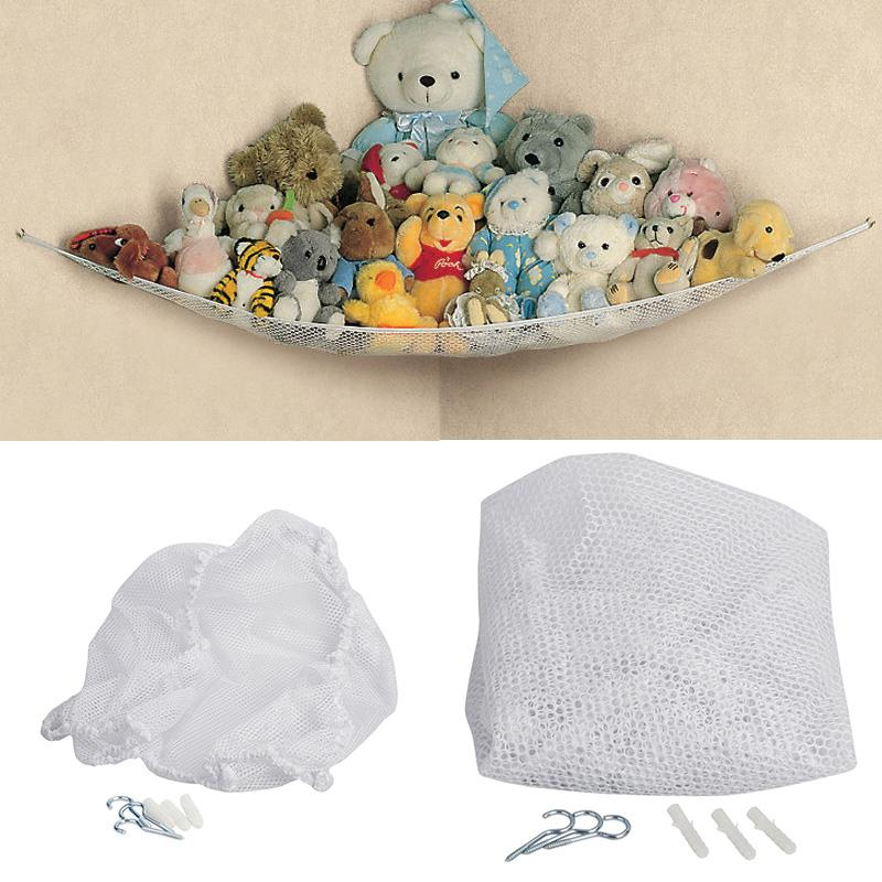 Mother & Kids Organizer Stuffed Tidy Storage Teddy Childs Organize Large Bedding 25lbs Dolls Kids Soft Baby Bedroom Mesh Toy Hammock Animals