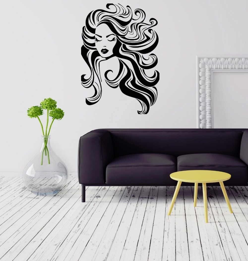 Beauty salon vinyl wall decal long hair sexy girl spa barber shop beauty salon vinyl wall decal long hair sexy girl spa barber shop wall sticker hair shop window glass decorative decoration in wall stickers from home amipublicfo Gallery