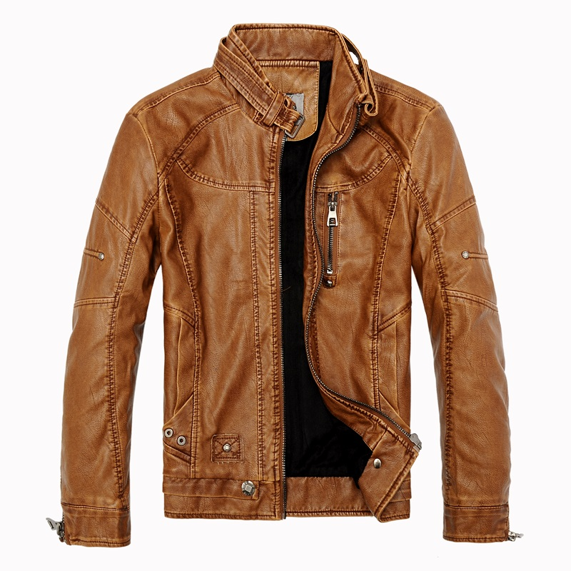 2016 Winter Men s Casual Leather Jackets Men Vintage Motorcycle PU Leather Jacket Male Moto Coats