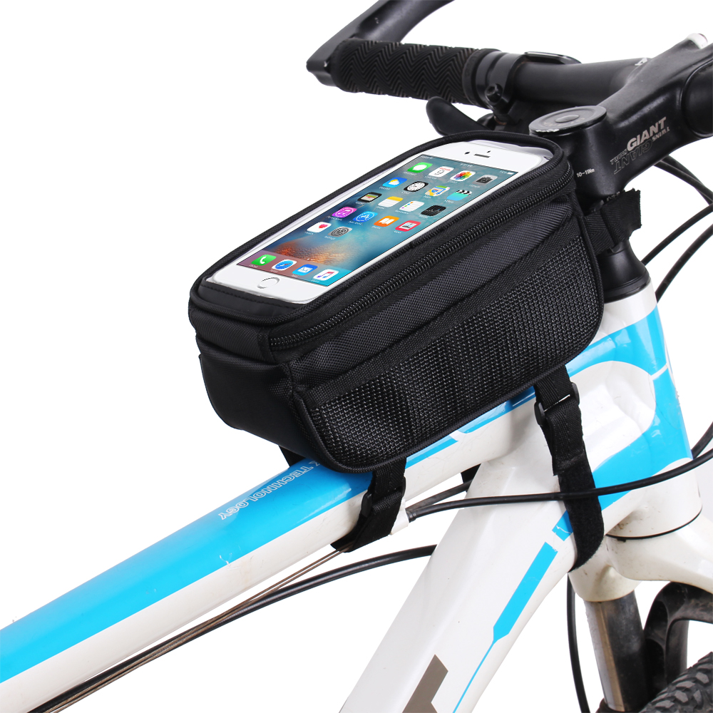 Color : Green, Size : 5.5 inches Cloud Bike Frame Bag Bicycle Phone Mount Waterproof Cycling Front Top Tube Pouch Frame Phone Holder Bag Pannier