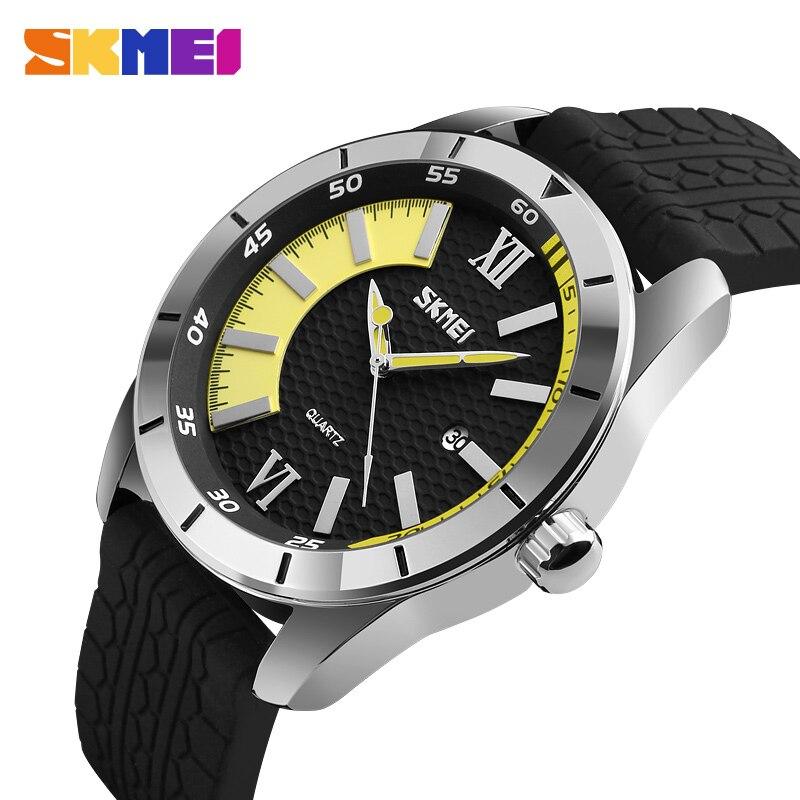 SKMEI 2018 Fashion Quartz Watch Men Watches Top Brand Luxury Male Clock  Business Mens Wristwatch Hodinky Relogio Masculino 9151-in Quartz Watches  from ... b60402fe7af
