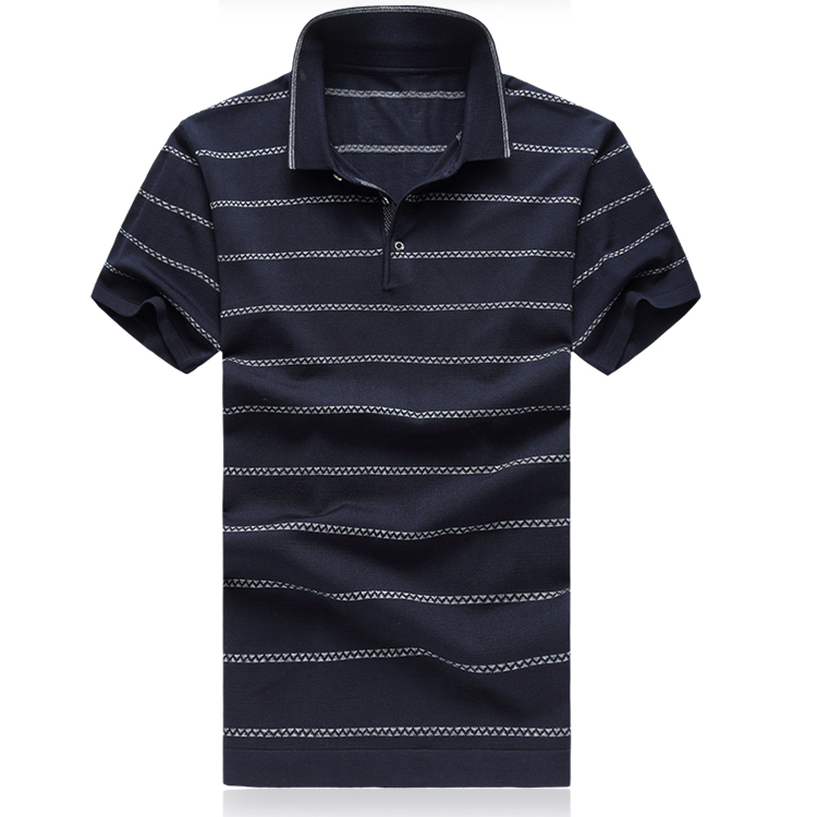 Men's   Polo   Mercerized Cotton Classic Style Large Size Stripe Fashion High Quality Short Sleeve Casual   Polo   Tee Tops Gent Life
