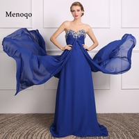 Dressy New Star Evening Dress Real Picture 2017 Vestidos Longo Elegant Long Chiffon Royal Blue Prom