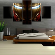 Iron Man Movie Painting Canvas Wall Art Modern HD Print Home Decor For Living Room Artwork 5 Piece
