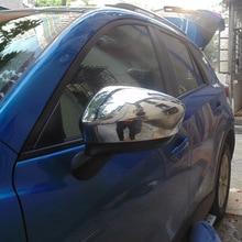 Para Mazda Cx-5 retrovisor puerta cubierta del espejo Abs Chrome cubierta del espejo lateral del coche diseño de coches para Mazda Cx-5 accesorios 2015