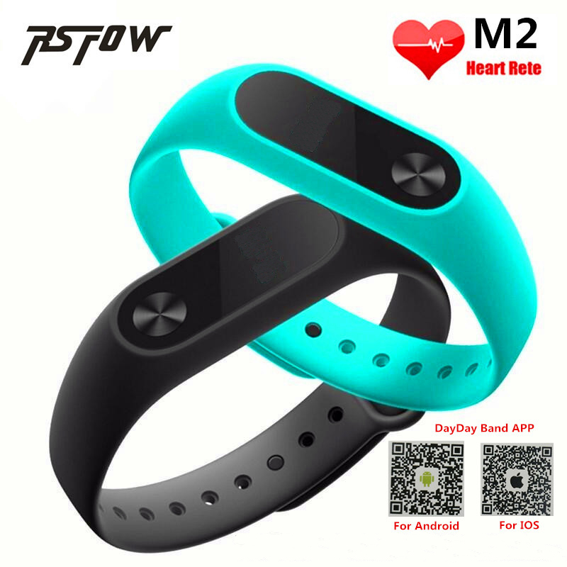RsFow New M2 Smart Bracelet Heart Rate Monitor Bluetooth Smartband Hea