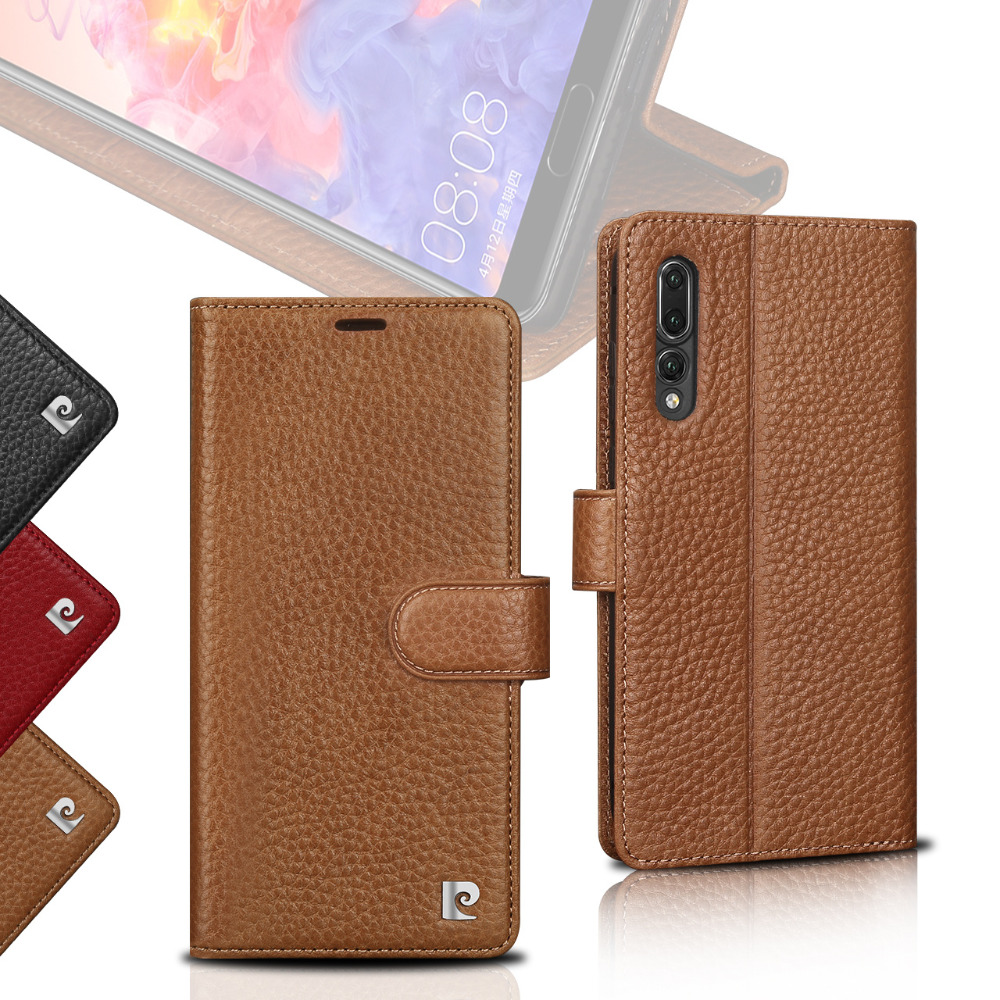 Cell Phone Accessories Genuine Leather Wallet Case For Huawei P20 Pro With Stand Cases, Covers & Skins