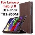 Case Для Lenovo Tab 3 8 Защитные Смарт обложка Искусственной Кожи таблетки Для TAB3 8 TB3-850F TB8-850M 8 дюймов PU Protector Рукава Case