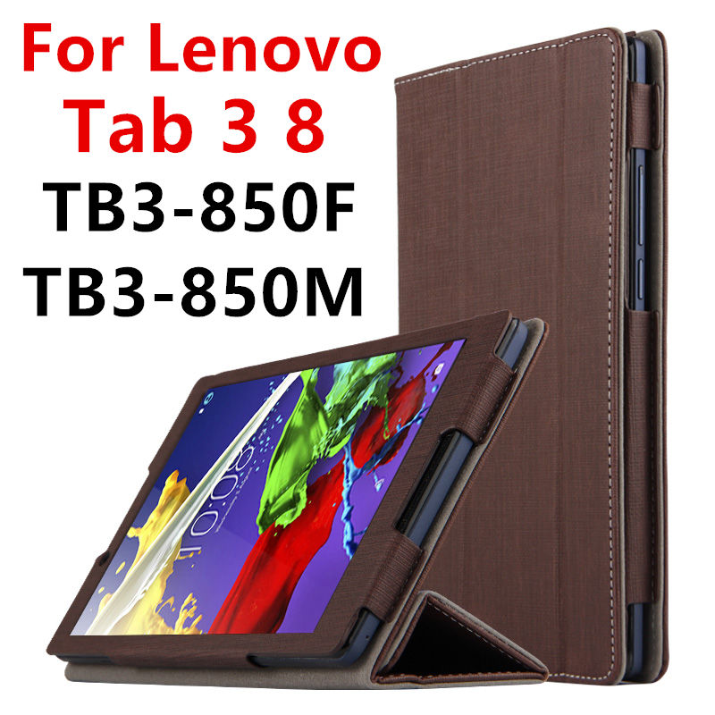 Case For Lenovo Tab 3 8 Protective Smart cover Faux Leather Tablet For TAB3 8 TB3-850F TB8-850M 8 inch PU Protector Sleeve Case 3 in 1 new ultra thin smart pu leather case cover for 2015 lenovo yoga tab 3 850f 8 0 tablet pc stylus screen film