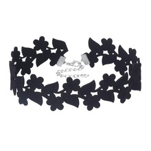 Fashion Style Special Design Black Collar Choker Necklace Vintage velvet Chokers Girls Chain necklace women collier ras du cou