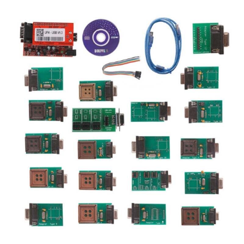 2016 New UPA-USB UPAUSB UPA USB Programmer With Full Adaptors V1.3 ECU Chip Tunning OBD2 Diagnostic Tool Free Shipping LR15