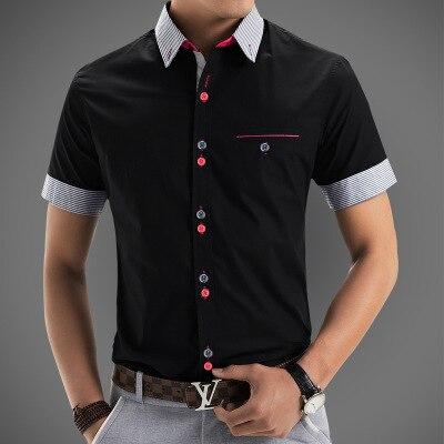 1767 20 De Descuento2015 Nueva Marca De Camisas De Vestir Para Hombre De Manga Corta Camisa Casual Hombres Slim Fit Marca De Diseño Camisa Formal
