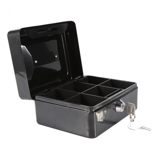 mini stainless steel petty cash money storage box security lock lockable metal safe small fit for