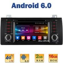 2GB RAM 4G LTE SIM WIFI Quad Core 7″ Android 6.0 AUX Mirror Link DAB+ USB Car DVD Video Player Radio GPS For BMW 5 E39 X5 M5 E53