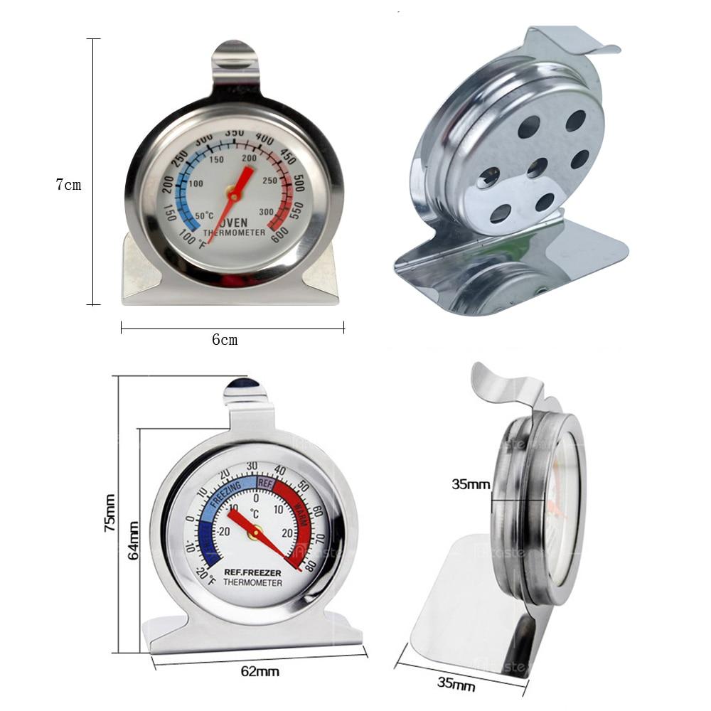 Rostfritt stål Kylskåp Frys och Ugnstermometer för köttmat kött ad6374e032b6d