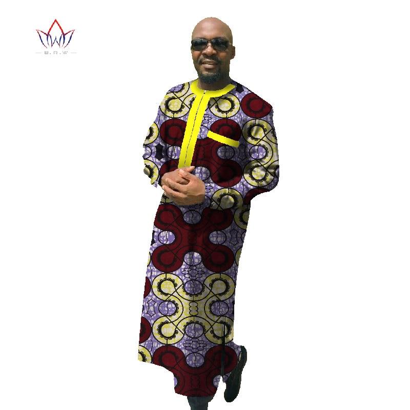 2017 Αφρικανική εκτύπωση Dashiki για άνδρες Plus μέγεθος Αφρικανική ενδυμασία μακρύ μανίκι Robe Dashiki Αφρικανική παραδοσιακή ενδυμασία WYN70