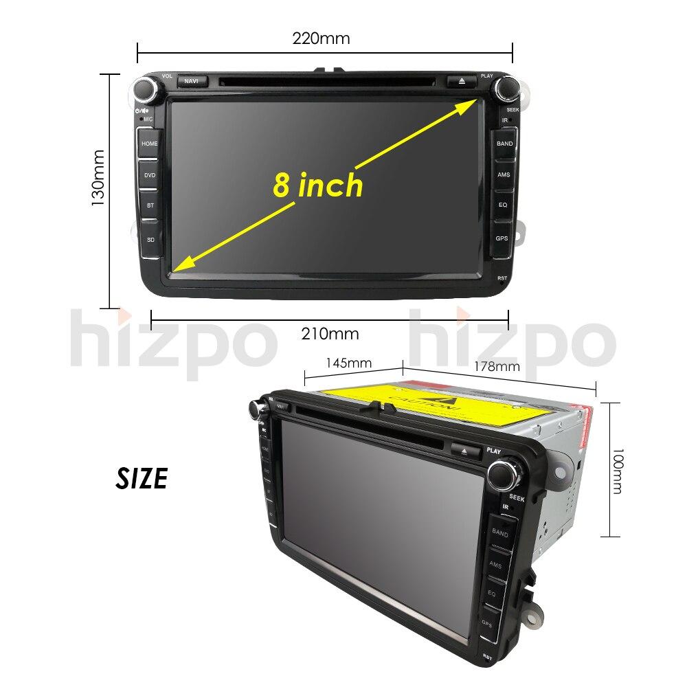 Cheap 2Din 8Inch Car DVD Player For VW POLO PASSAT Golf Skoda Octavia SEAT LEON DAB SWC Radio GPS Navigation 1080P FM Free Camera Maps 28