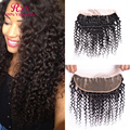 8A Peruvian Hair 13x4 Full Lace Frontal With Baby Hair Peruvian Virgin Hair Deep Curly Lace Frontal Closure Middle Free 3 Part