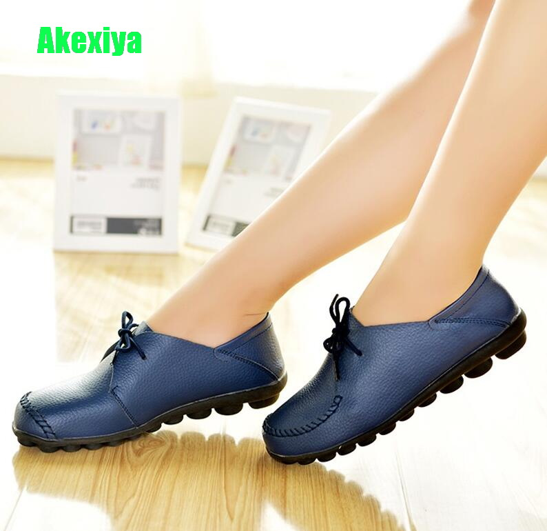 Fashion Womens Round Toe Flats Low Heel Loafers Zapatos Shoes Plus Size Pumps