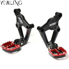 Motorcycle Gear Shift Brake Lever Toe Pegs Toepegs Pedals Footpegs Foot Rests pegs For HONDA X-ADV 750 2017 2018 XADV LOGO