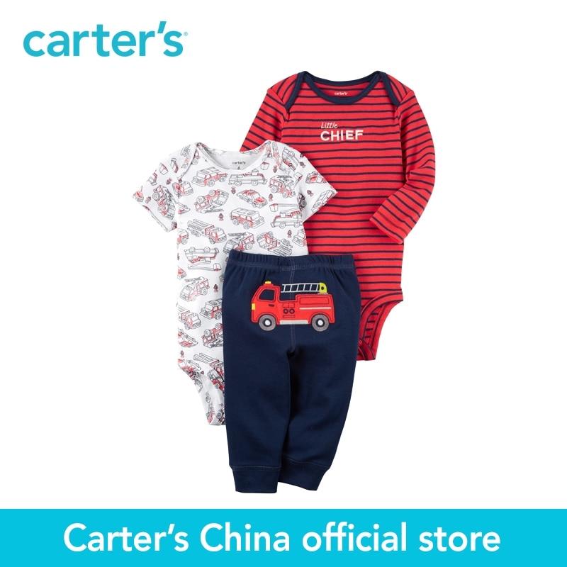 Carter's 3-Piece baby children kids clothing Boy Spring & Summer Cotton Little Character Set 126G854 комбинезоны little boy комбинезон трансформер
