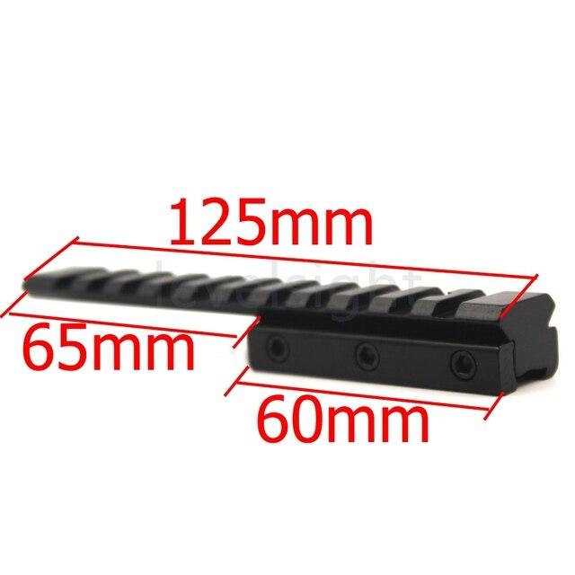 Ласточкин хвост продлить Weaver Picatinny Rail адаптер 11 мм до мм 20 мм/21 мм расширяемый тактический прицел охота основы продлить пистолет Mount-0026A