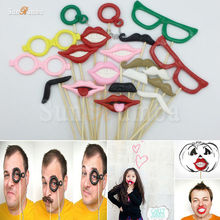 20Pcs Funny Photo Booth Props Decoration Photobooth Wedding Birthday Event Party Supplies Photocall