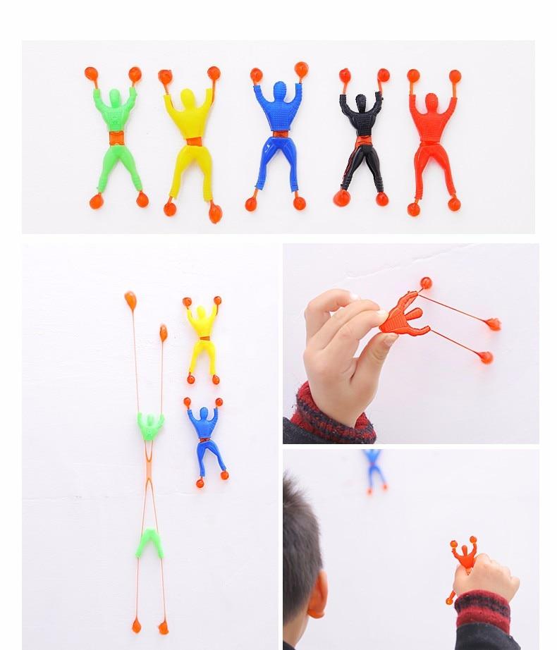 12pcs Kids Birthday Party Favor Sticky Toy Climber Man Pinata