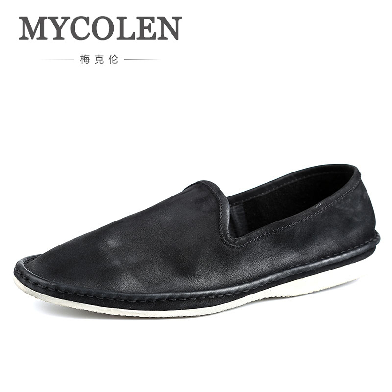 MYCOLEN Luxury Brand Fashion Moccasins Men Loafers High Quality Genuine Leather Shoes Mens Driving Shoes Sepatu Casual Pria mycolen 2018 new fashion mens oxfords vintage dress shoes luxury brand comfort office man shoes for party sepatu pria