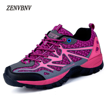ФОТО zenvbnv new 2018 outdoor air mesh leather shoes breathable comfort women shoe casual female slip on outside fashion safety shoes