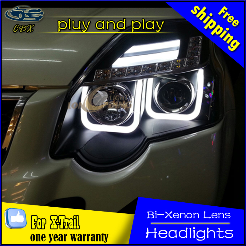 Car Styling Head Lamp for Nissan X-trail LED Headlight 2008-2013 Rouge Headlights Daytime Running Light Bi-Xenon HID Accessories