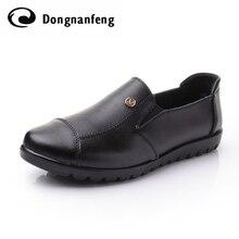 Frauen Schuhe Frau Weibliche Oxford Echtes Leder Marke Casual Wohnungen Mutter Sapato Feminino Schuhe Zapatos Müßiggänger-schuhe DNF8011