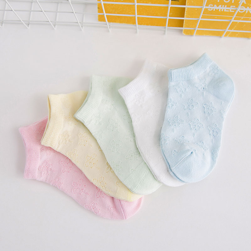 5 Pairs Socks Set  New Fashion Spring Summer Soft Cotton Breathable Mesh  Baby Toddler Boy Girl Socks