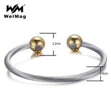 Магнитный женский браслет welmag из меди терапевтические элементы