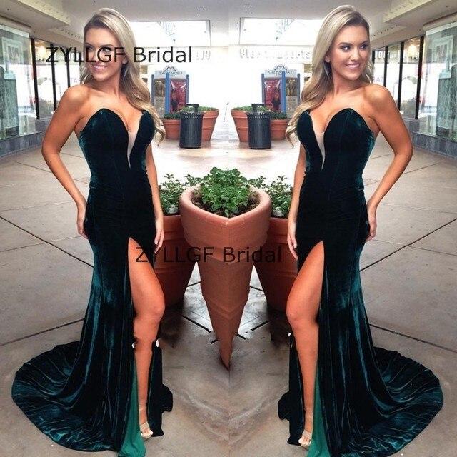 Zyllgf Bridal Fishtail Sweetheart Open Leg Prom Dresses Long Floor
