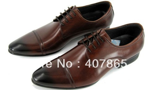 Wholesale men's fashion leather shoes size:38-45 free shipping