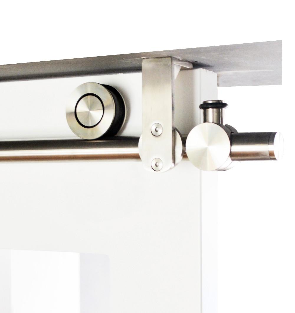DIYHD 150cm-244cm Stainless Steel Ceiling Mount Bracket Sliding Barn Wood Door Track Hardware