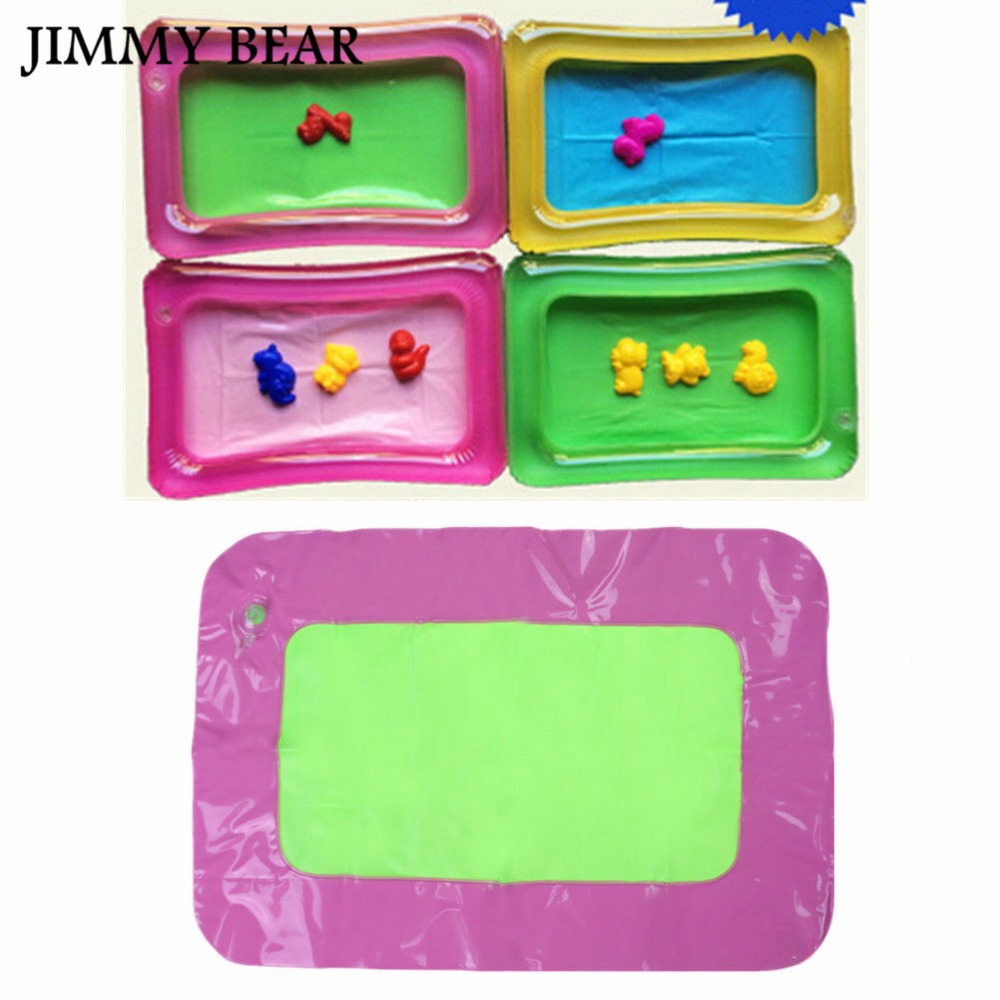 JIMMY BEAR 10 Pcs/Set 42*28cm Inflatable Sand Tray Plastic Table Baby Kids Indoor Playing Sand Clay