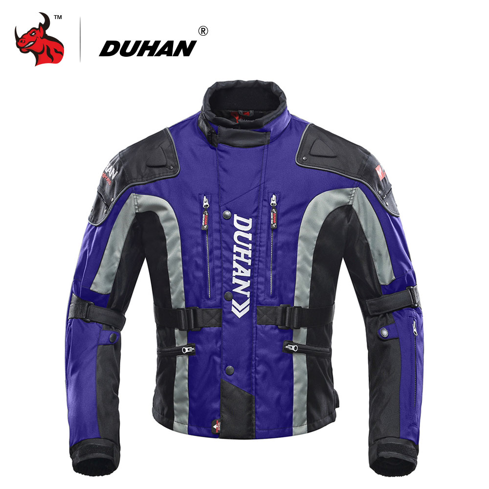 DUHAN Windproof Motorcycle Jacket Cold-proof Moto Jacket Protective Gear Armor Men's Autumn Winter Motorbike Touring Clothing duhan motorcycle jacket motocross jacket moto men windproof cold proof clothing motorbike protective gear for winter autumn