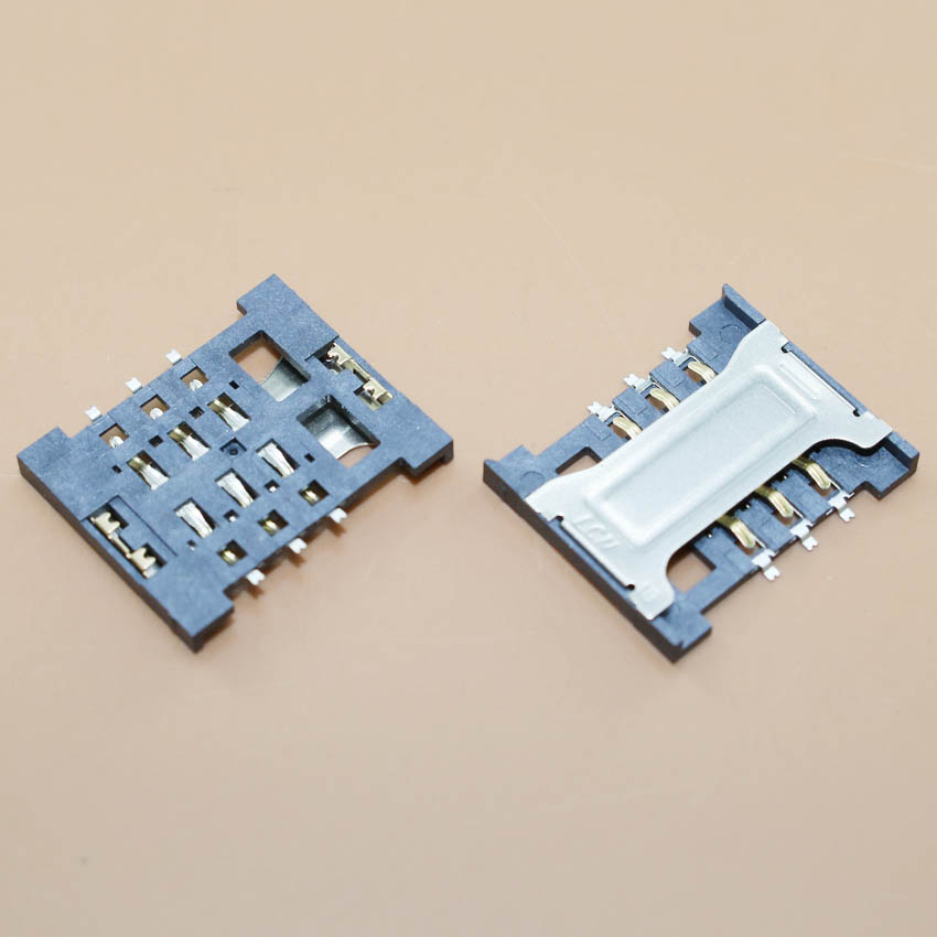 YuXi 1pcs sim card socket slot holder 16.5 X 14mm for lenovo A388T xiaomi 2 and other mobile and tablet