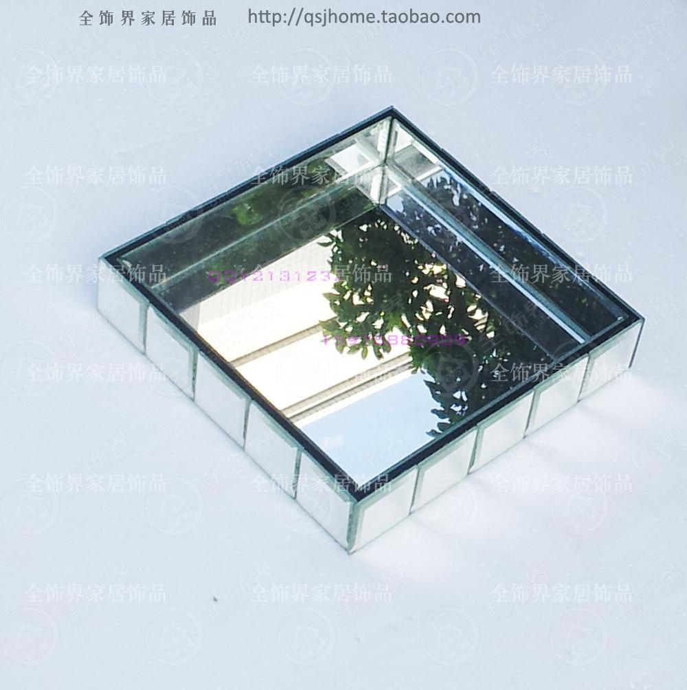 Plateau de rangement moderne en verre | Plateau en miroir, plateau de rangement en verre, petit plateau