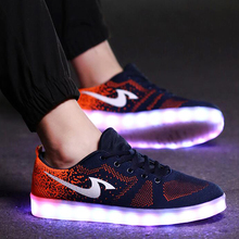 New 2016 Fashion Light UP Shoe For Men And Women Lovers Led Shoes Casual Flat Luminous Shoes For Adults SS1605030