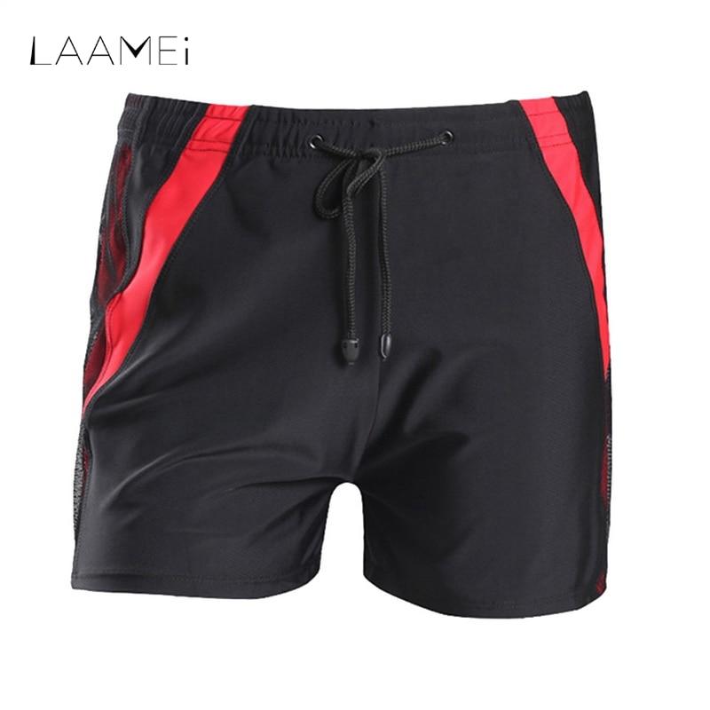 Laamei Men Short Beach Wear Quick Dry Fitness Men's Shorts Breathable Patchwork Striped Casual Shorts Fashion Summer Beachwear