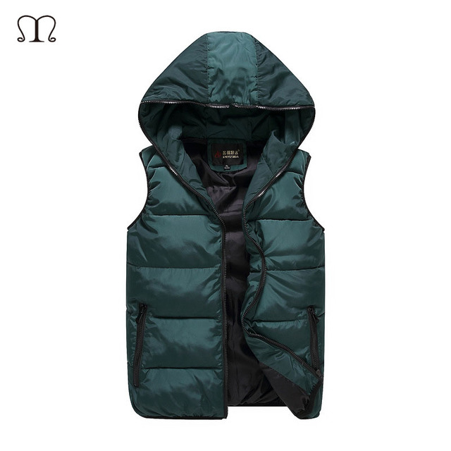 Winter Men's Warm vest 2016 fashion casual coat Mens camouflage vests Man Down sleeveless jacket waistcoat Big Plus Size S-5XL